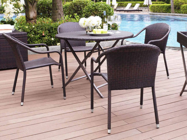 Cool wood patio tables breaking down patio furniture so for Best material for outdoor furniture