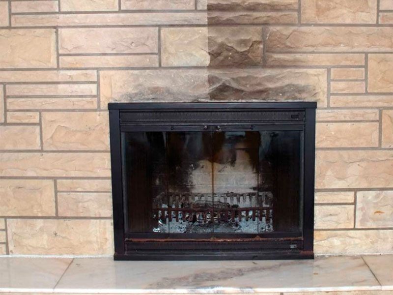 The fireplace surround is always the most difficult to clean because of the textured and porous surfaces. Learn how to do it the right way!