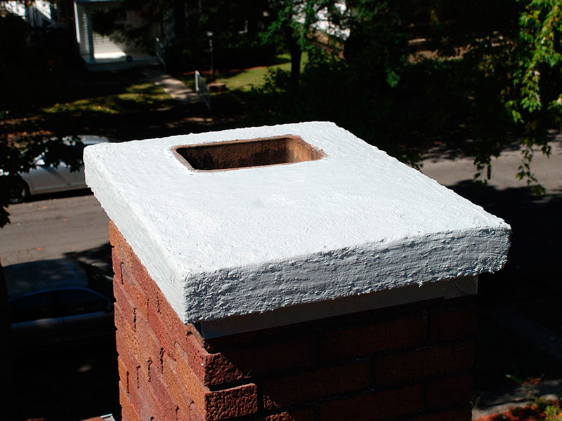 Repair A Chimney Crown With A Brushable Crown Repair