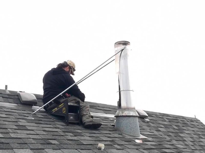 Roof Safety To Keep Chimney Pipe In Place